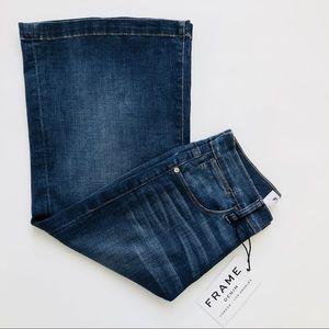 FRAME Denim Le Gaucho High Rise Crop Leg Jeans